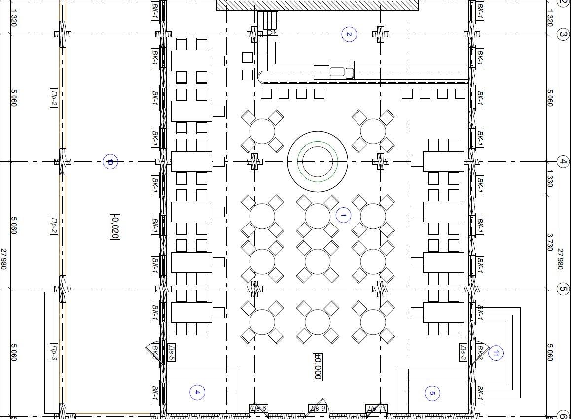 plan restorana - Свадьба в замке