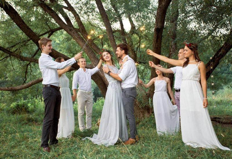 свадьба в красивом месте
